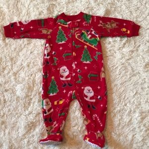NEW Children's Place Christmas footed pajamas